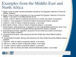 examples from the middle east and north africa