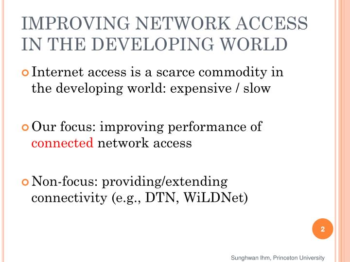 Improving network access in the developing world l.jpg