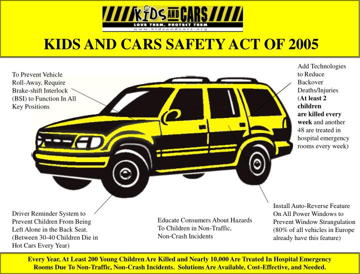 Kids and cars safety act of 2005 l.jpg
