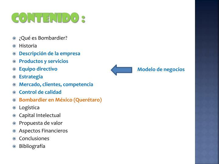 CONTENIDO :