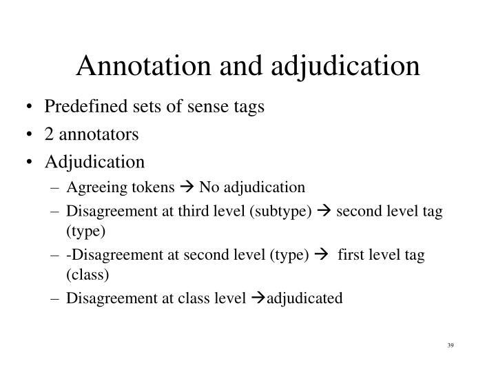 Annotation and adjudication