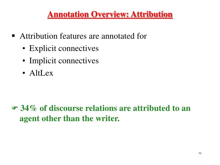 Annotation Overview: Attribution