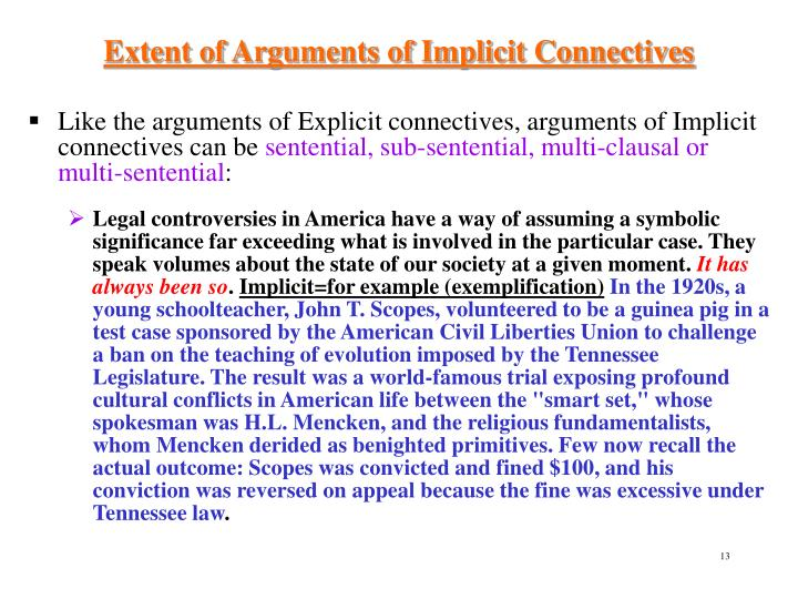 Extent of Arguments of Implicit Connectives