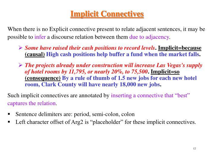 Implicit Connectives