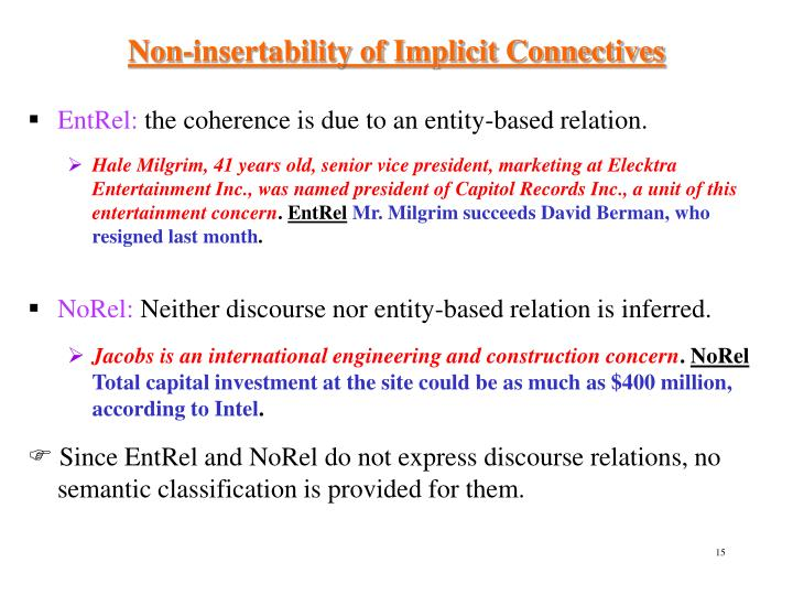 Non-insertability of Implicit Connectives