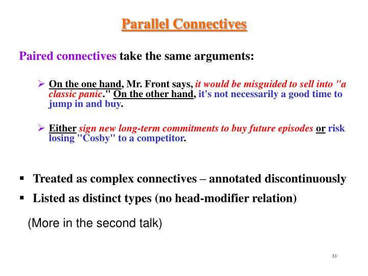 Parallel Connectives