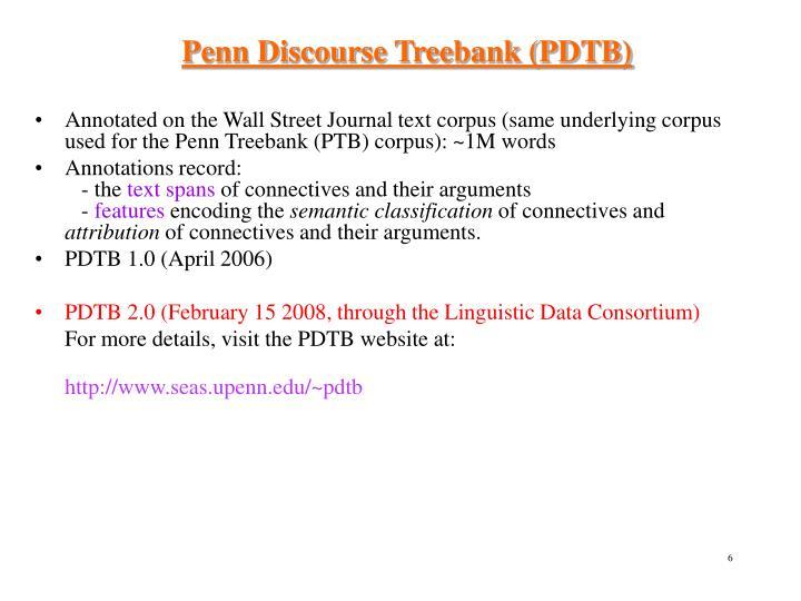 Penn Discourse Treebank (PDTB)