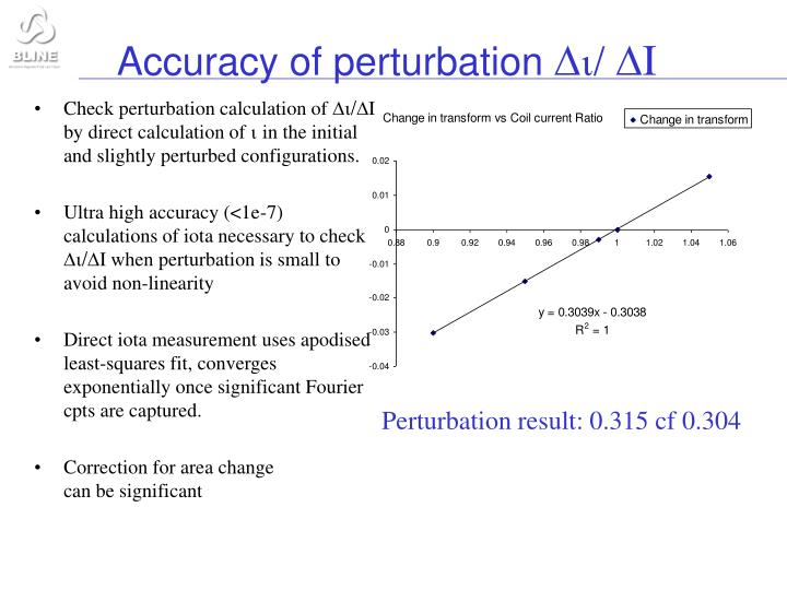 Accuracy of perturbation