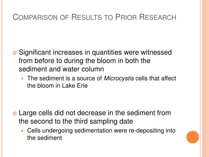 Comparison of Results to Prior Research