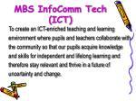 mbs infocomm tech ict