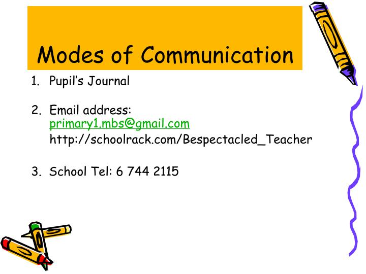 Modes of Communication