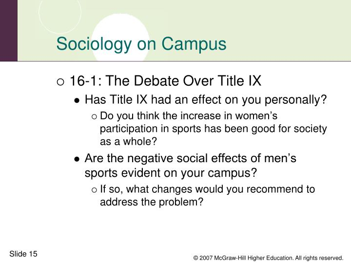 Sociology on Campus