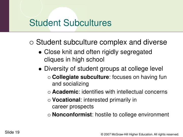 Student Subcultures