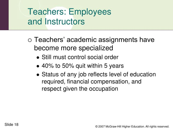 Teachers: Employees