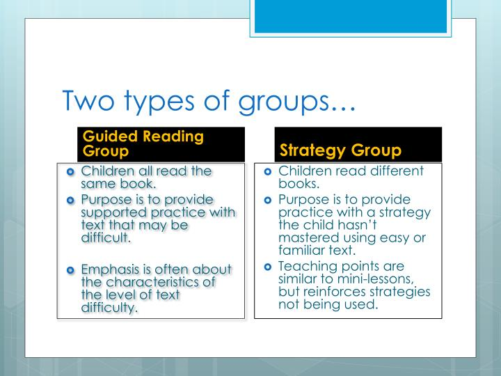 Two types of groups…