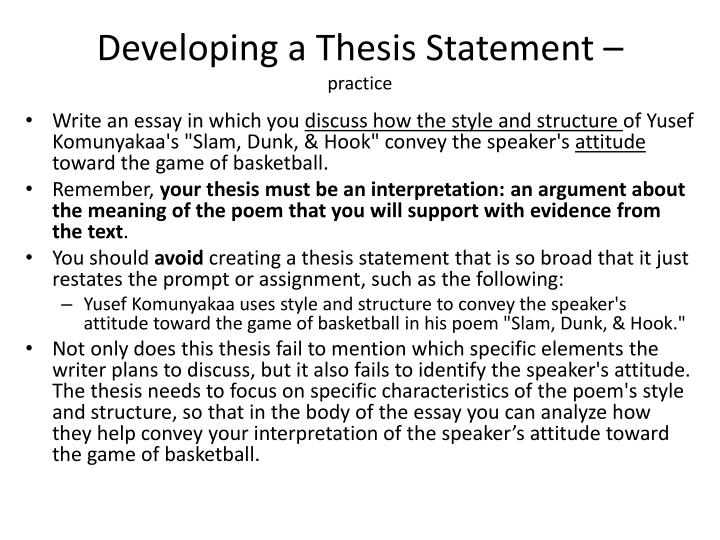 Advanced English Essay Practice On Writing Topic Sentences To Given Thesis Statements Bienvenidos  What Is A Thesis Statement Purpose Of Thesis Statement In An Essay also Good Proposal Essay Topics Define Enthesis Observation Of People Essay Dbq  Civilizations Of  Thesis For Essay