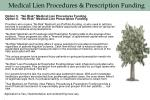 medical lien procedures prescription funding