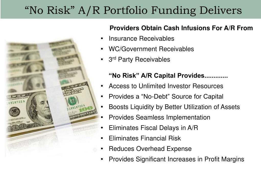 """""""No Risk"""" A/R Portfolio Funding Delivers"""