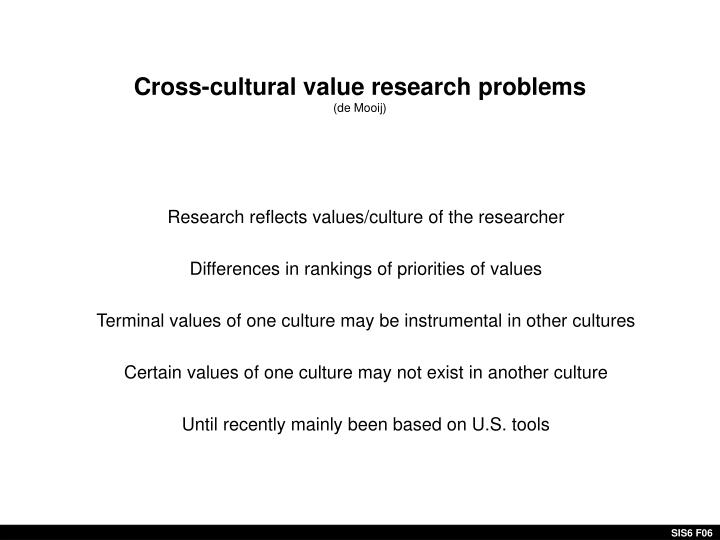 Cross-cultural value research