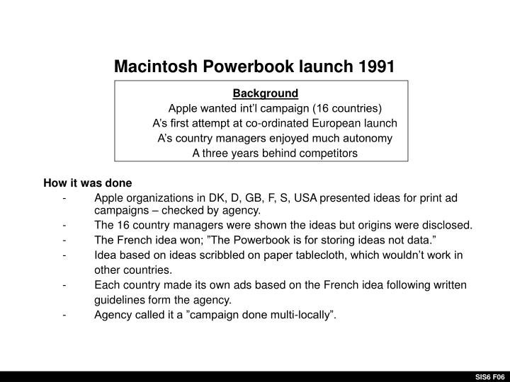 Macintosh Powerbook launch 1991