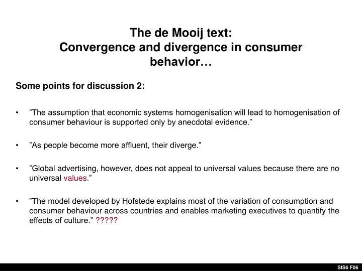 The de Mooij text: