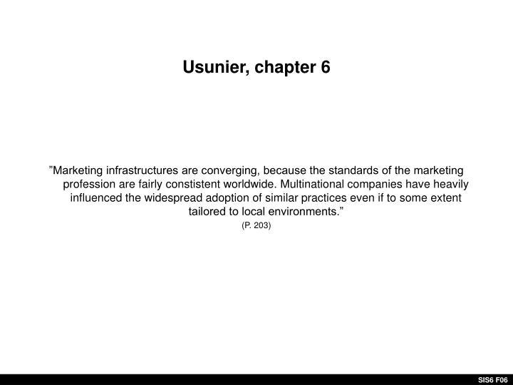 Usunier, chapter 6