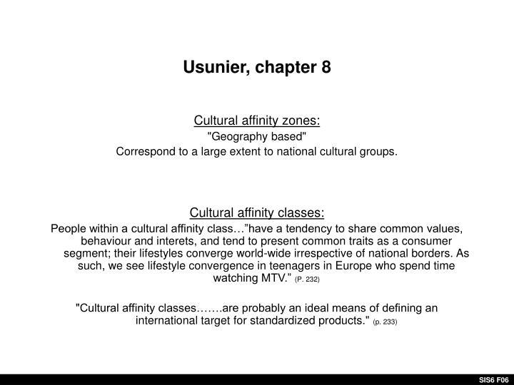 Usunier, chapter 8
