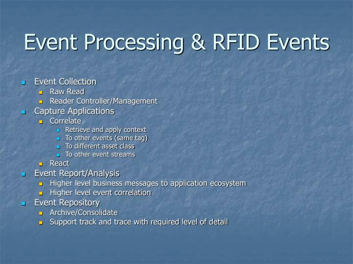 Event Processing & RFID Events