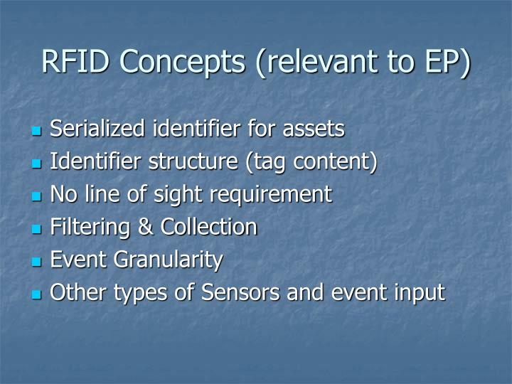 RFID Concepts (relevant to EP)