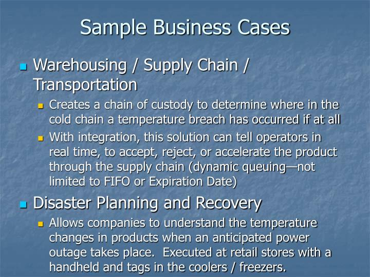 Sample Business Cases