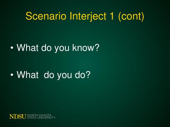 Scenario Interject 1 (cont)