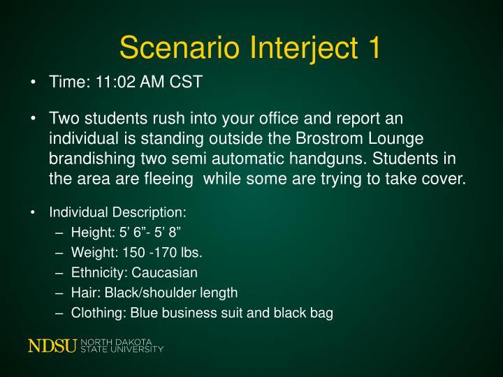 Scenario Interject 1