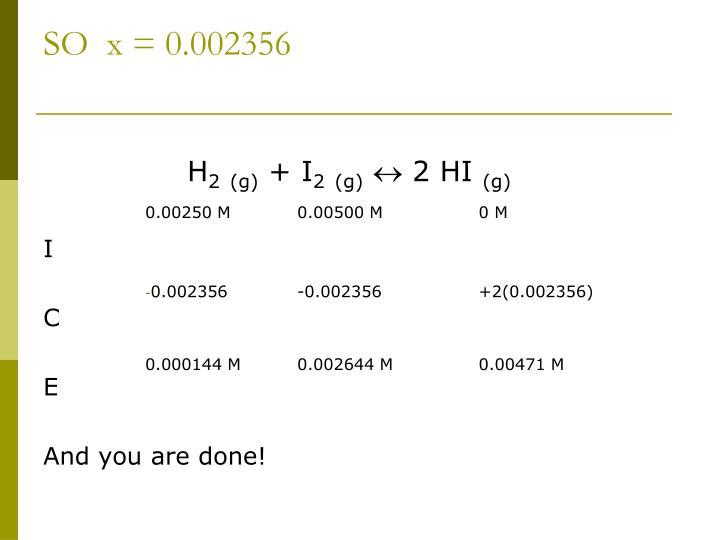 SO  x = 0.002356