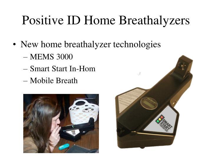 Positive ID Home Breathalyzers