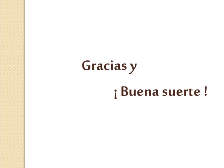 Gracias y