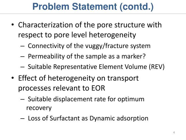 Problem Statement (contd.)