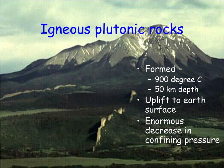 Igneous plutonic rocks