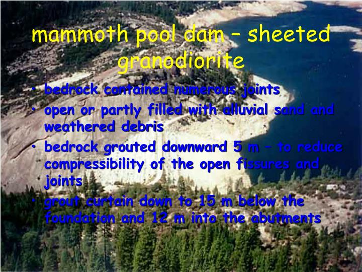 mammoth pool dam – sheeted granodiorite