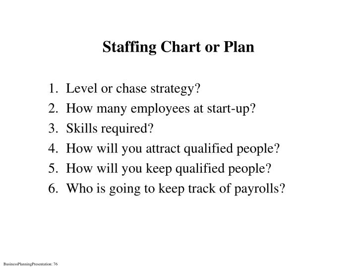 Staffing Chart or Plan