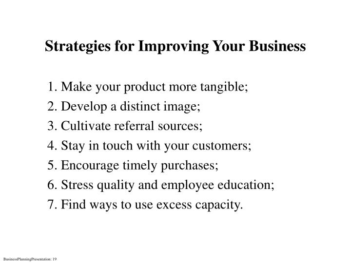 Strategies for Improving Your Business