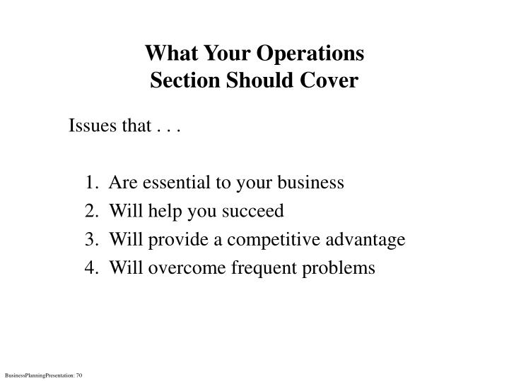 What Your Operations
