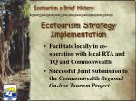 ecotourism strategy implementation