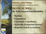 political will the path toward sustainability