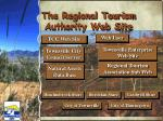 the regional tourism authority web site