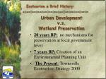 urban development v s wetland preservation