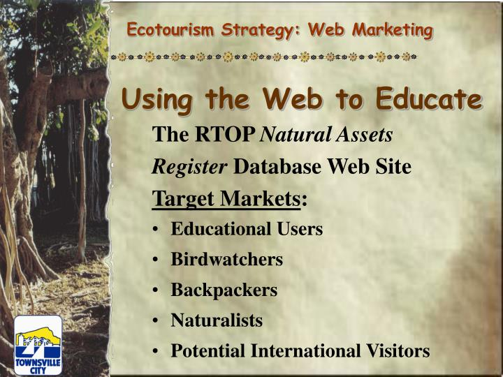 Ecotourism Strategy: Web Marketing