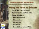 using the web to educate