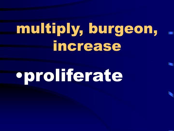 multiply, burgeon, increase