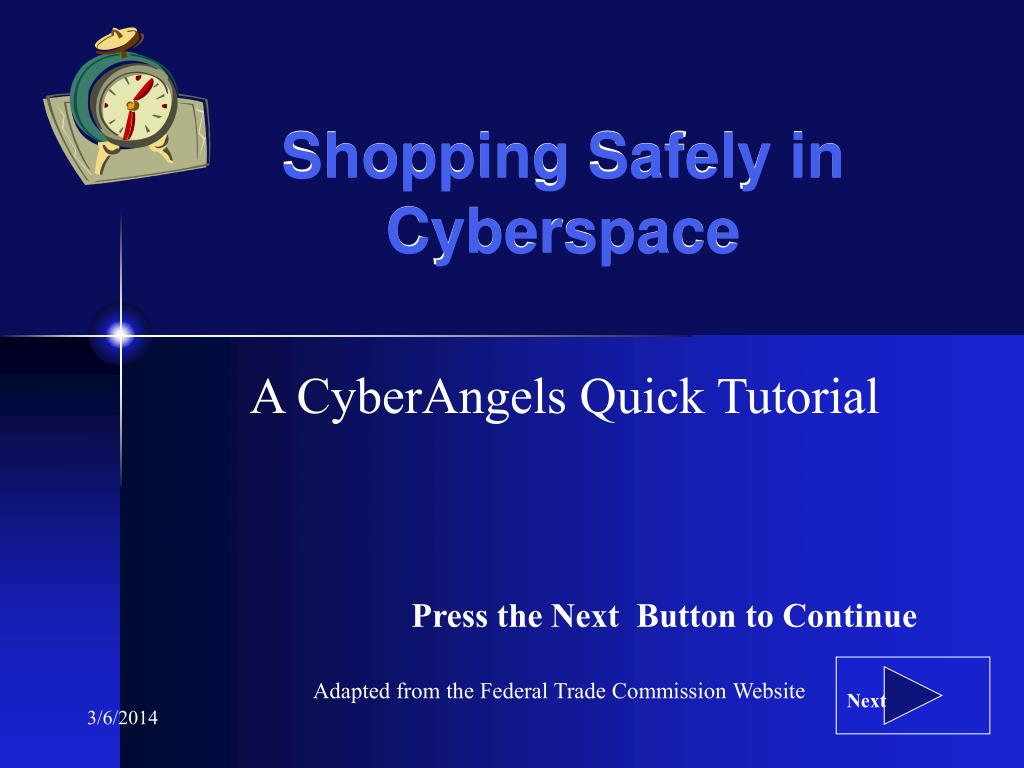 Shopping Safely in Cyberspace