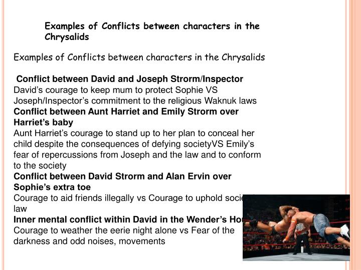 Examples of Conflicts between characters in the